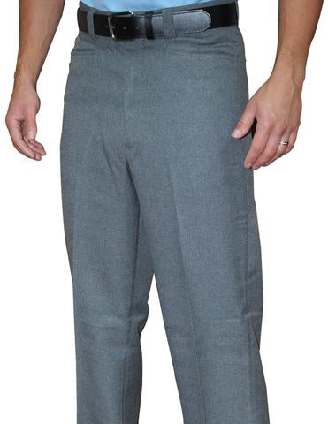 BBS380 - Smitty Flat Front Plate Pants Heather Grey