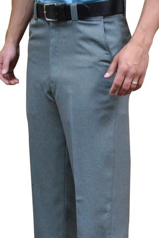 BBS381 - Smitty Flat Front Combo Pants with Expander Waistband -  Heather Grey