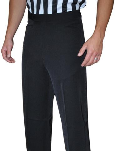 "BKS290-""NEW TAPERED FIT"" Smitty 4-Way Stretch Black Flat Front Pants w/ Western Cut Pockets"