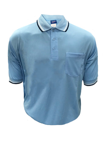 D260 Dalco Baseball/Softball Umpire Shirt - Light Blue w/White/Navy