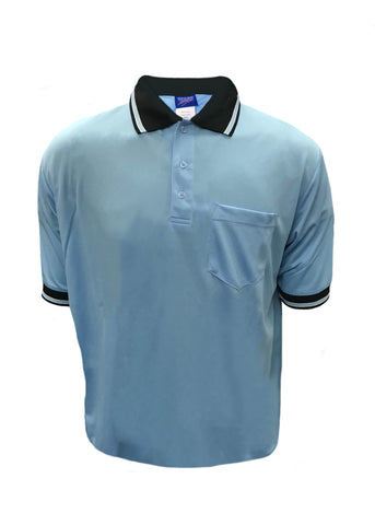 D300 Dalco Baseball/Softball Umpire Shirt - Light Blue w/Black/White