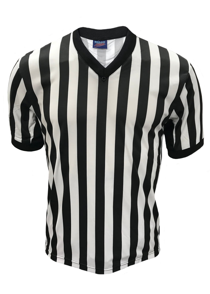 D715 - Dalco Basketball Officials V Neck Side Panel Shirt with Pro Comfort Cooling Fabric