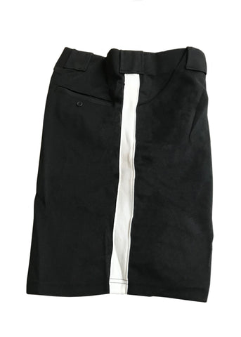 D9817 - Dalco Football Official's Shorts - Black w/ White Stripe