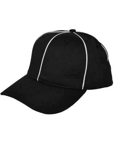 HT100 - Smitty Black w/ White Piping Flex Fit Football Hat
