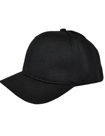 HT304 - Smitty - 4 Stitch Flex Fit Umpire Hat Black