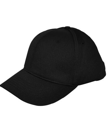 HT306 - Smitty - 6 Stitch Flex Fit Umpire Hat Black