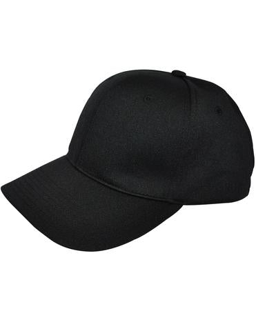 HT308 - Smitty - 8 Stitch Flex Fit Umpire Hat Black