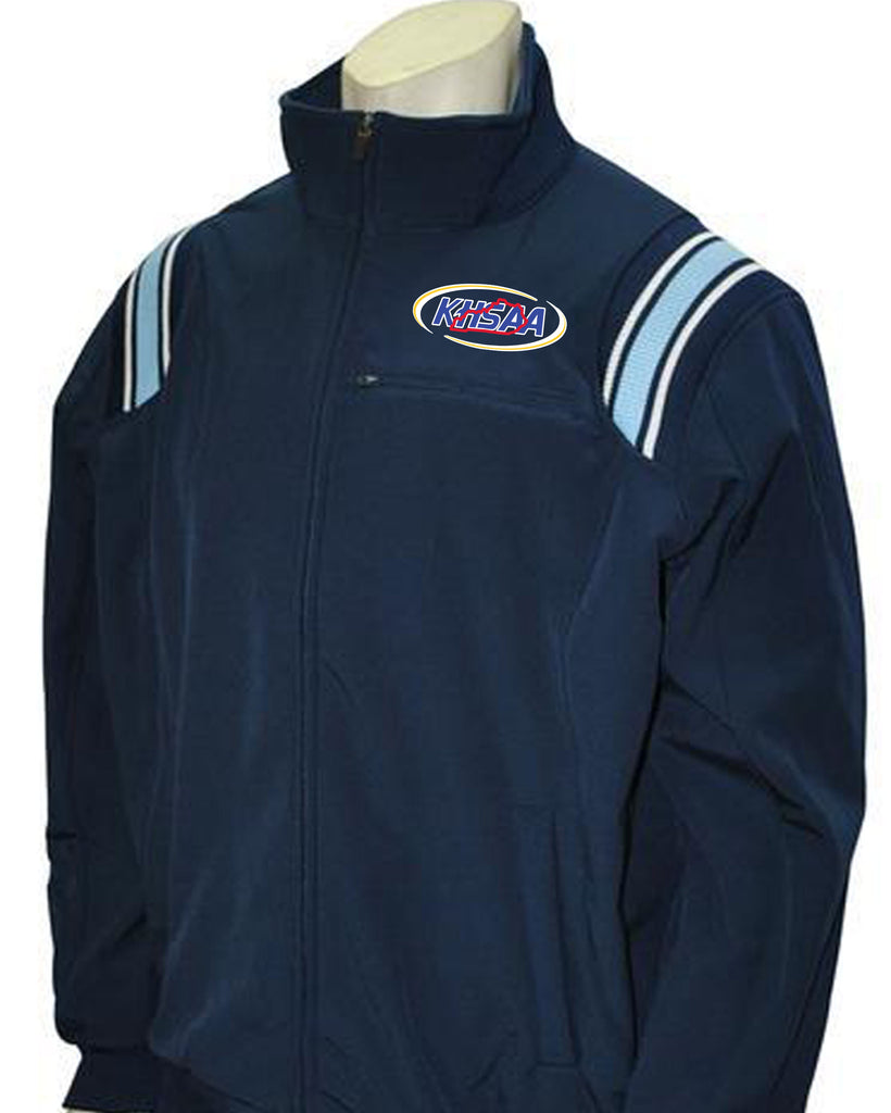 "BBS320KY NY/PB/White ""KHSAA"" Smitty Long Sleeve Microfiber Shell Pullover Jacket  w/Half Zipper"