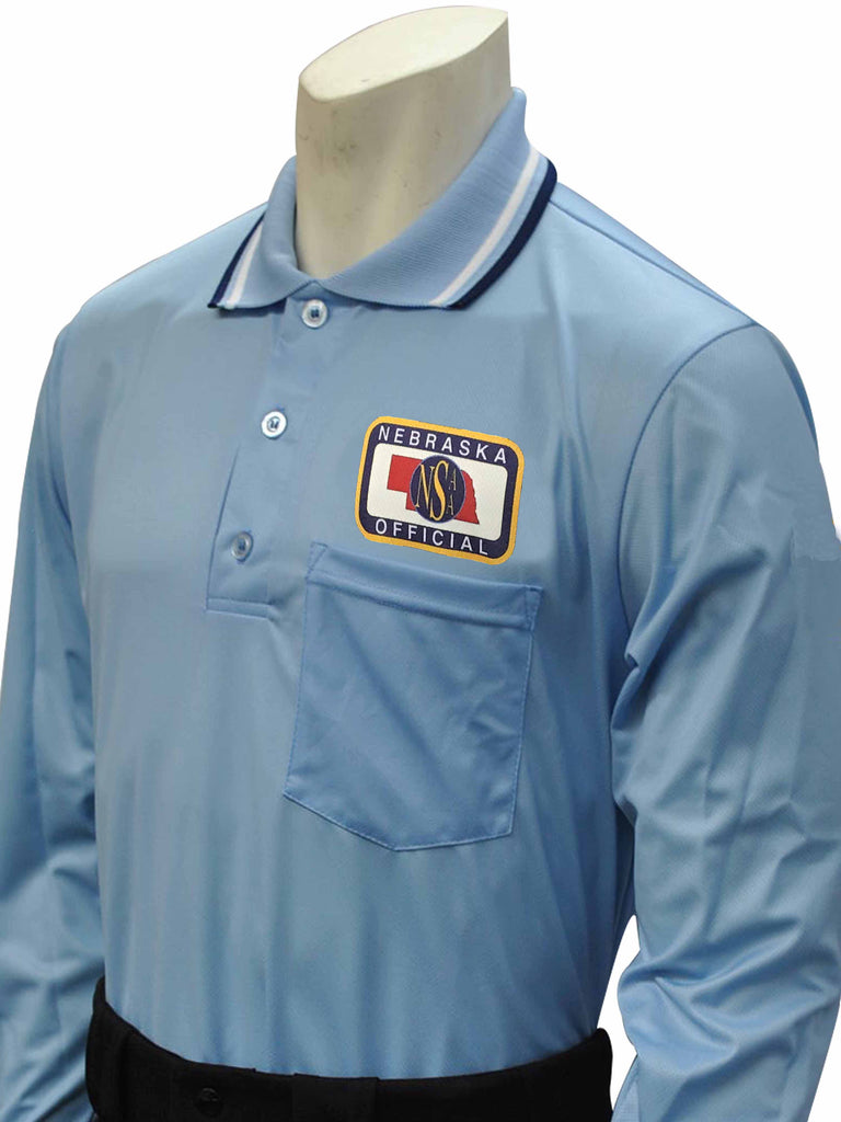 USA301 Nebraska Baseball Men's Long Sleeve Shirt Powder Blue
