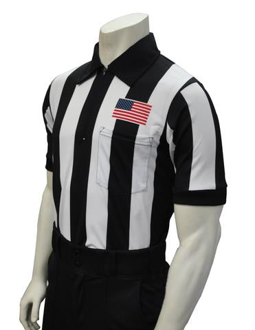 USA109 - Smitty USA - Dye Sub Football Short Sleeve Shirt w/ Flag Over Pocket