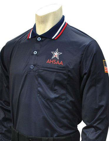 USA301 AL Ump Long Sleeve Shirt New Logo Above Pocket Navy