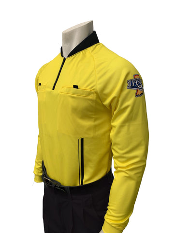 "USA901IN-YW ""PERFORMANCE MESH"" ""IHSAA"" Yellow Long Sleeve Soccer Shirt (3 Options Available)"