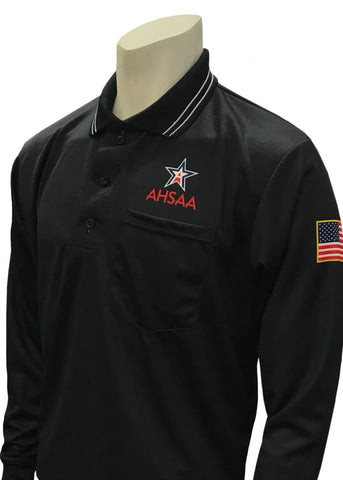 USA301 AL Ump Long Sleeve Shirt New Logo Above Pocket Black