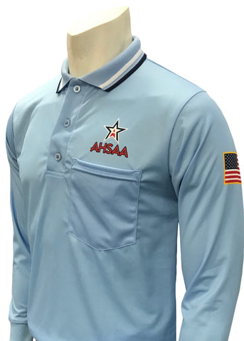 USA301 AL Ump Long Sleeve Shirt New Logo Above Pocket Powder Blue