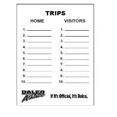 D3508 - Dalco Baseball/Softball Writable Game Card