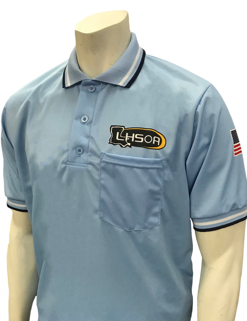 USA300 LA Short Sleeve Baseball Shirt Powder Blue