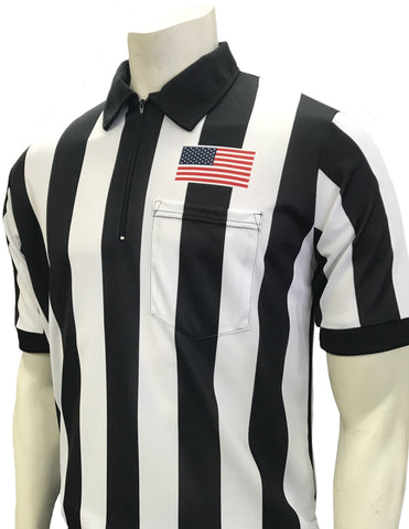 USA117 - Smitty USA - Dye Sub Football Short Sleeve Shirt w/ Flag Over Pocket