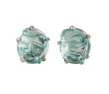 Tanqueray Glass Earrings in Silver