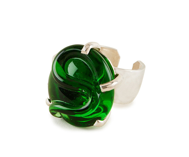 Glass Cocktail Ring