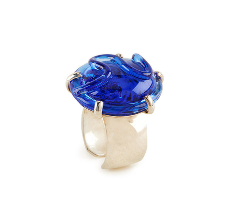 Royal Blue Glass Ring