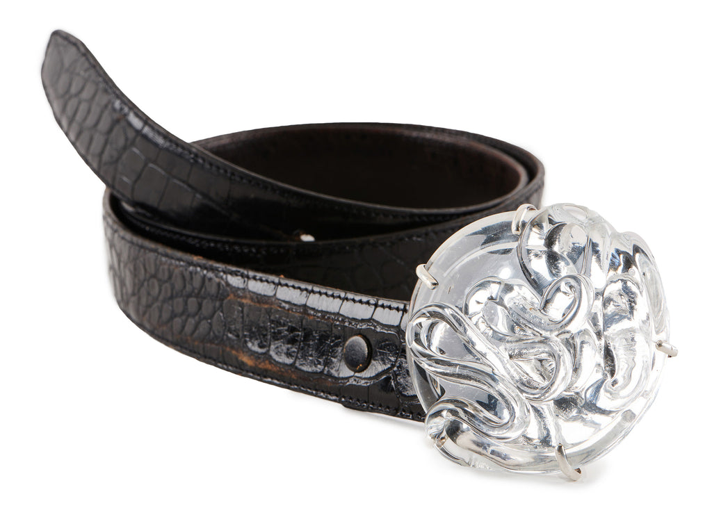 Glass Belt Buckle.  Rodeo-worthy.