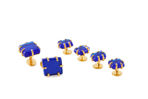 View Cobalt Blue Cufflinks and Studs