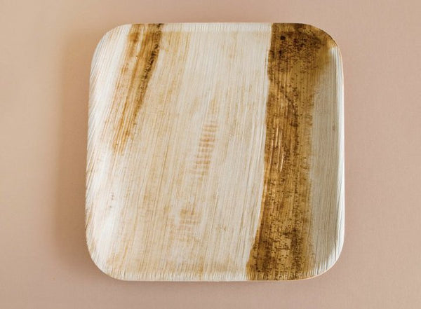Palm Leaf Plate - Square 6 inches
