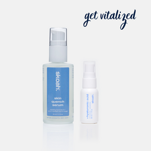 skin quench serum & +hyaluronic acid concentrate