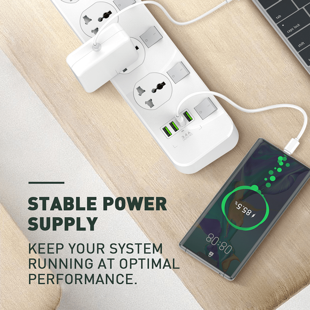LDNIO 4-USB Charging 4-outlet Surge Protection Strip