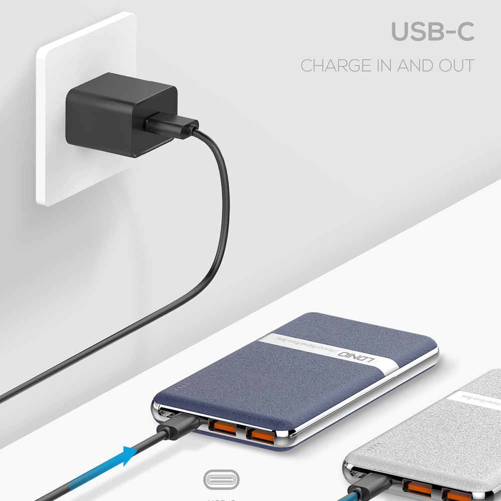 LDNIO 10,000mAh 15W USB-C Quick Charge Powerbank