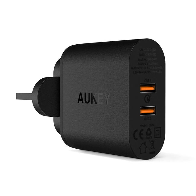 AUKEY® 39W Dual Port Charger with Quick Charge 3.0