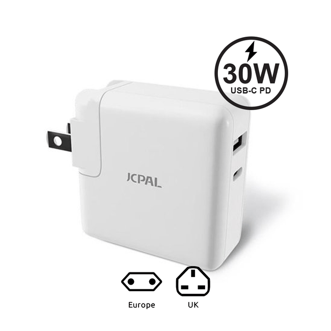 JCPAL ELEX 30W USB-C PD Travel Charger - Add-on™ Store