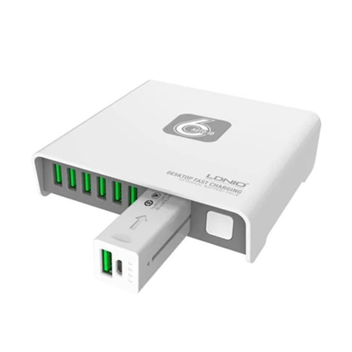 LDNIO Desktop Charger with Emergency 2600mAh Powerbank - Add-on™ Store