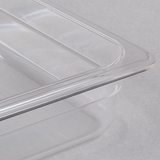 "1/2 Size Clear Polycarbonate Food Pan - 2 1/2"" Deep"