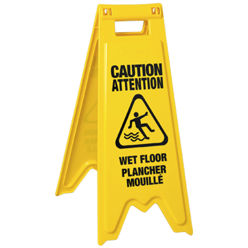 "Marino Floor Sign ""Wet Floor"" Eng / Frn Ylw"