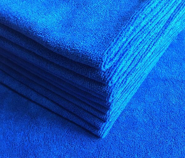 Royal Blue Premium Microfiber Cloths (5 pack)