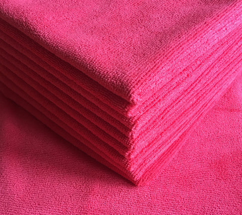 Red Premium Microfiber Cloths (5 pack)