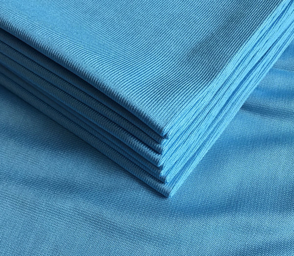 Blue Premium Glass Cloths (5 pack)