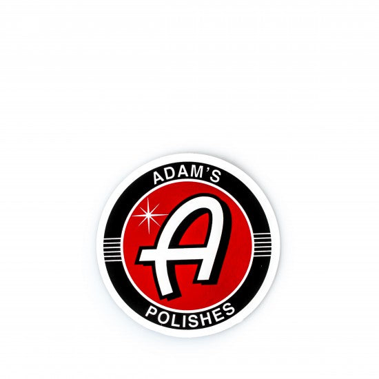 "Adam's NEW Bright Red 3"" Sticker"