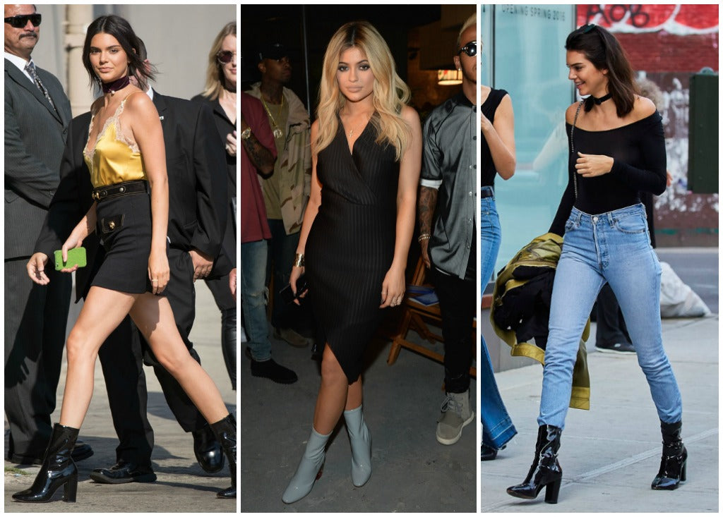 Images of Kendall and Kylie Jenner wearing David Bowie boots.