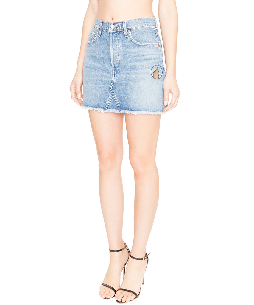 Quinn Hi Rise Denim Mini Skirt