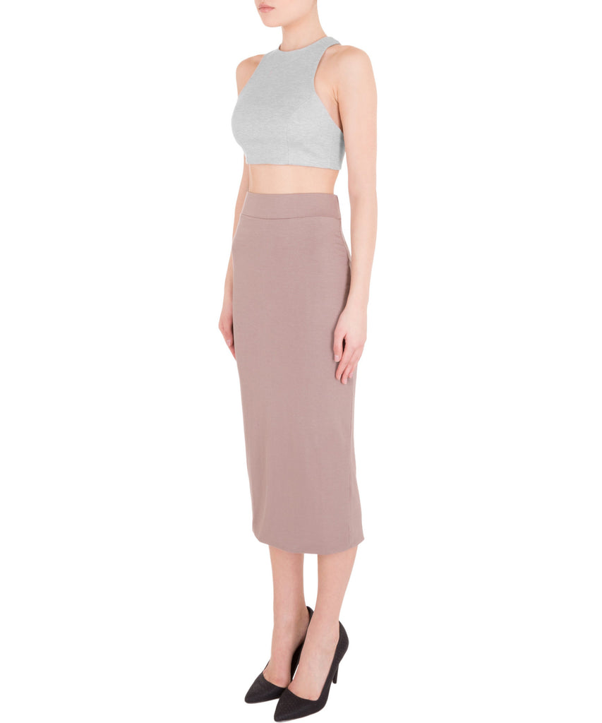 Blq Basiq Crop Top w/Back Cut Out