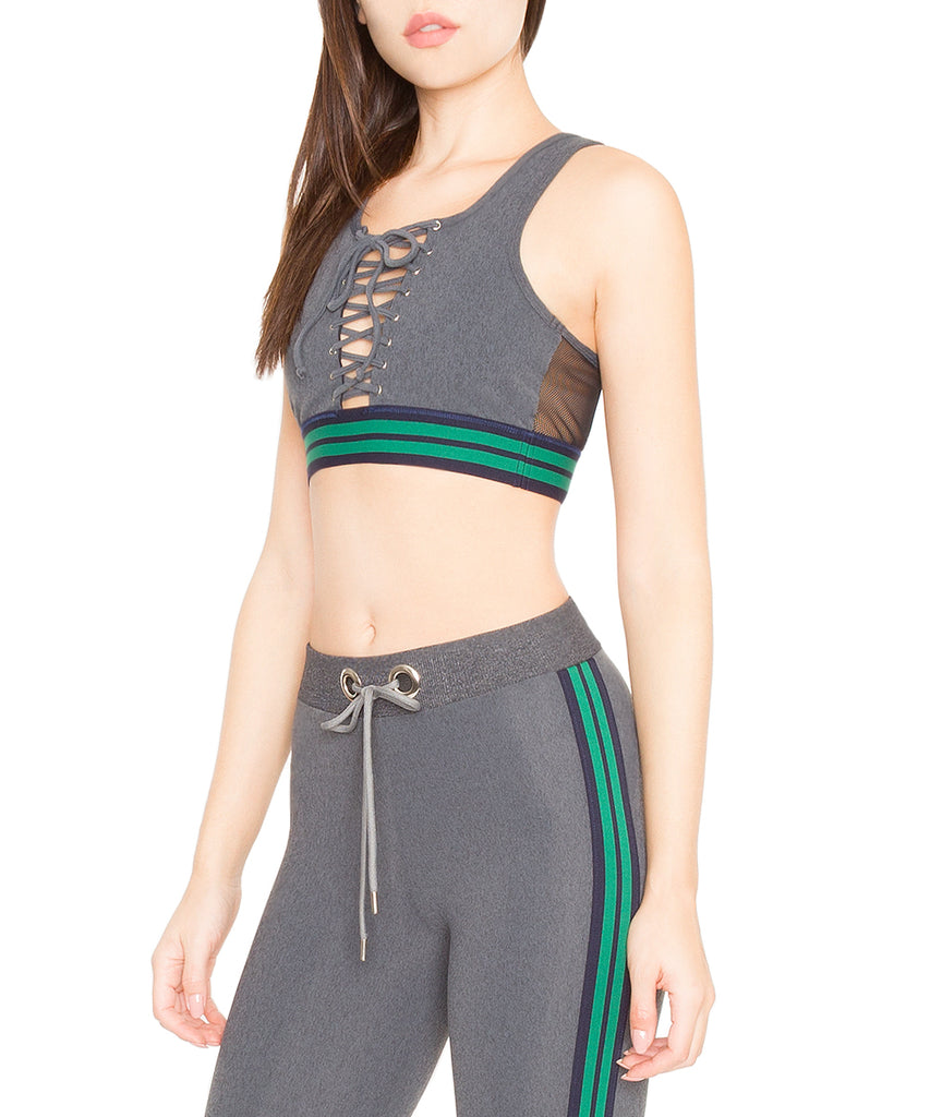 Blue Life Fit Sideline Crop