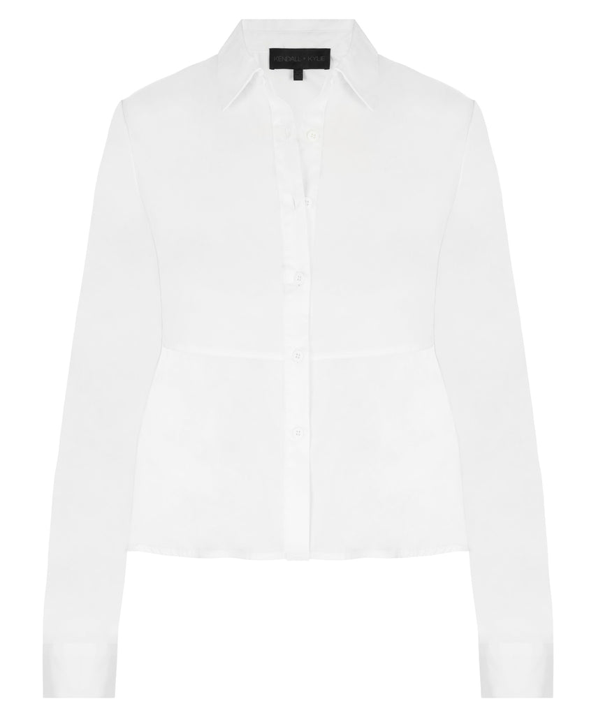 Kendall + Kylie Cropped Tie Back Shirt