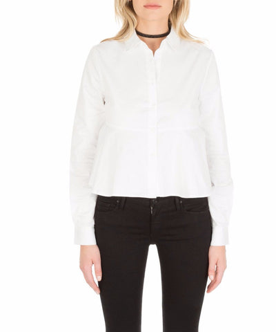 Cropped Tie Back Shirt