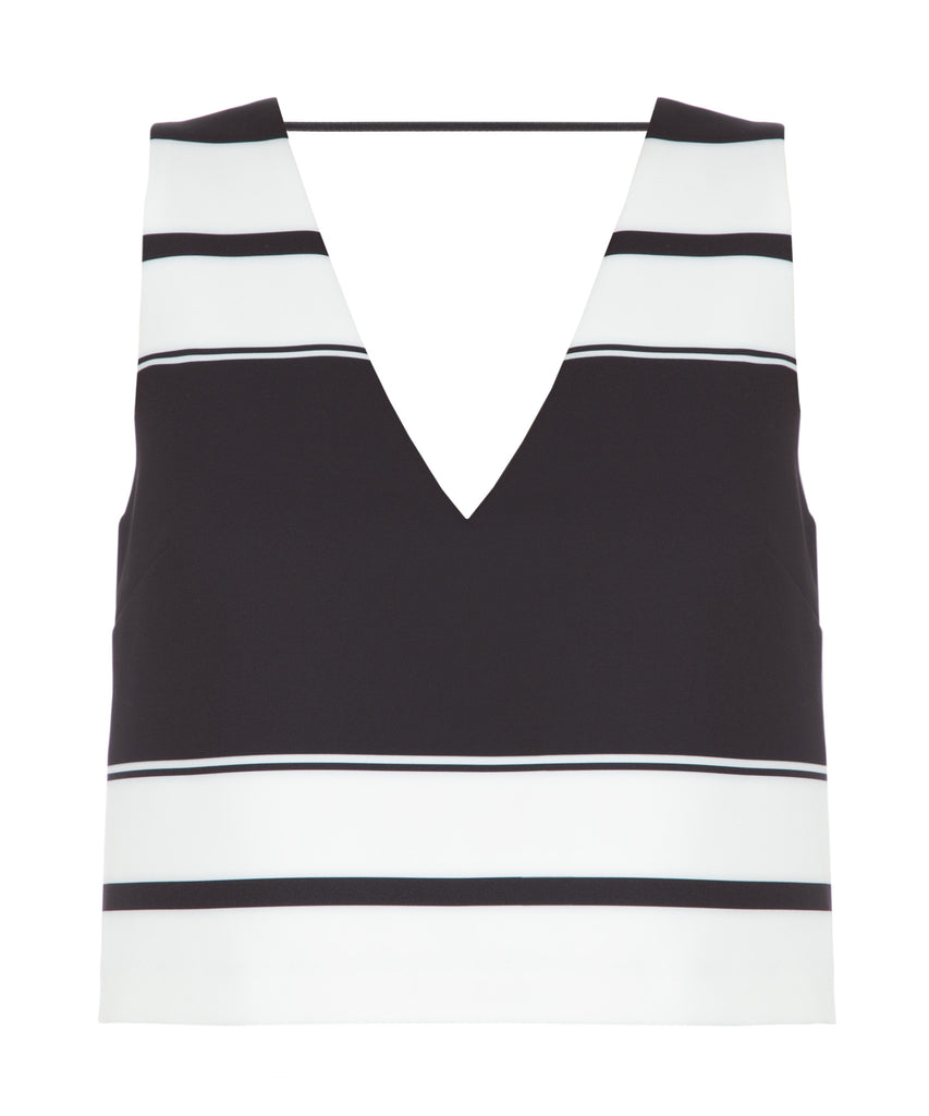 Double V Sleeveless Top