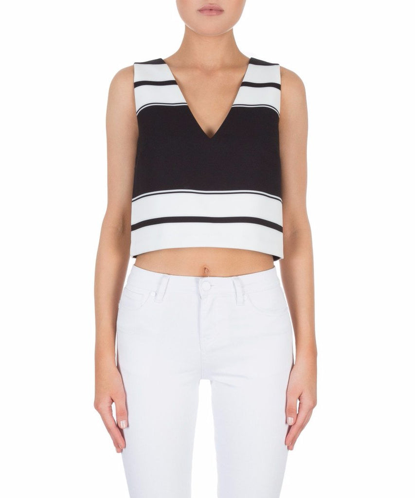 Kendall + Kylie Double V Sleeveless Top