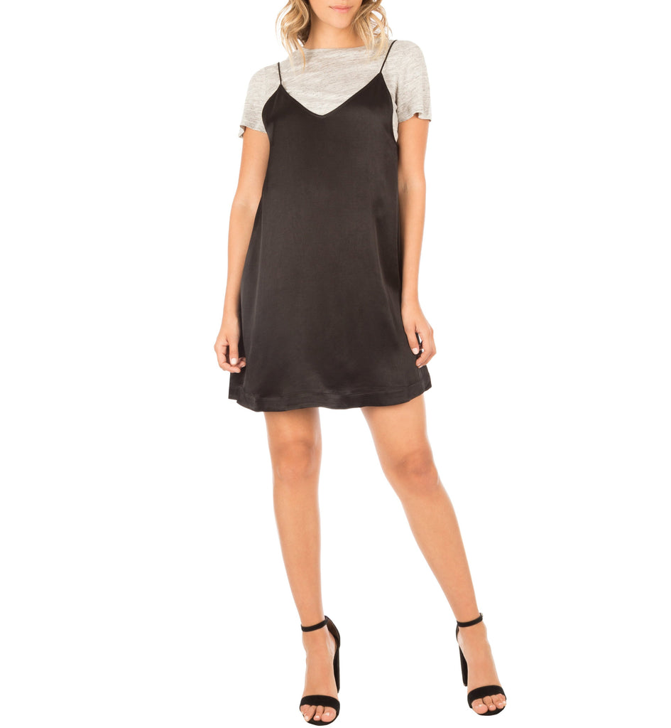 Kendall + Kylie Satin Slip Dress