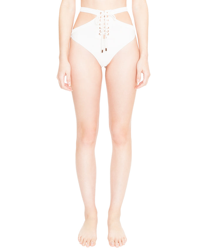 Bardot Lace Up Cut Out Bottom