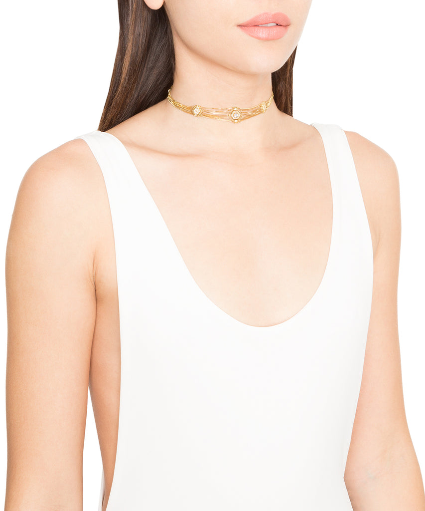 The Pave Kite Chain Link Choker